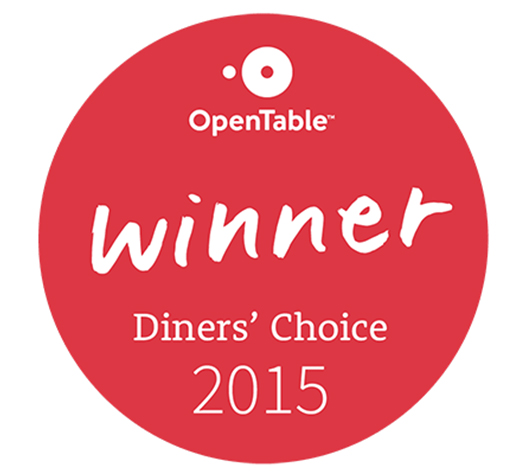 2015 OpenTable Diners' Choice Award