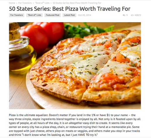 50 States Series: Best Pizza Worth Traveling For