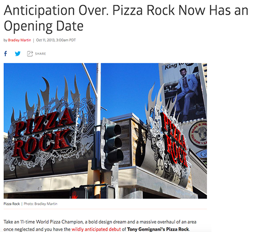 Anticipation Over. Pizza Rock Now Has an Opening Date
