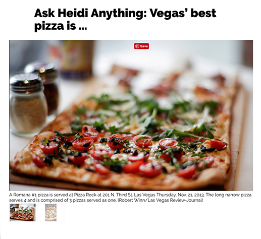Ask Heidi Anything: Vegas' best pizza is...