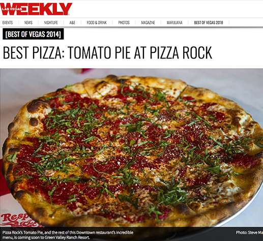 Best Pizza: Tomato Pie at Pizza Rock