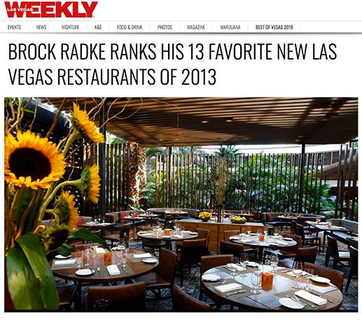 Brock Radke Ranks His 13 Favorite New Las Vegas Restaurants of 2013