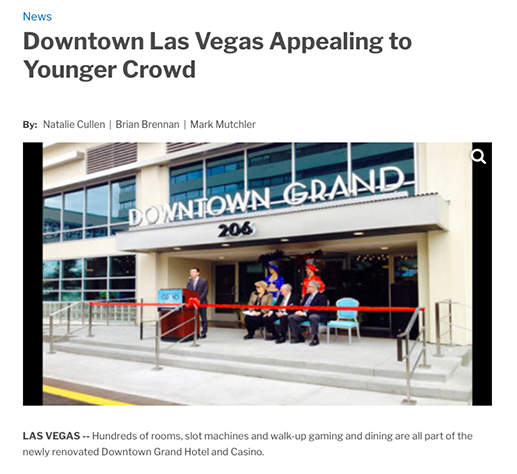 Downtown Las Vegas Appealing to Younger Crowd