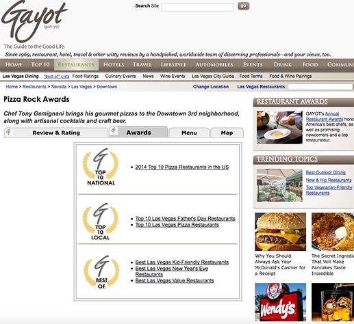 Pizza Rock one of top ten new restaurants in Vegas