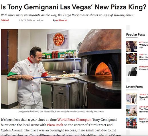 Is Tony Gemignani Las Vegas' New Pizza King?