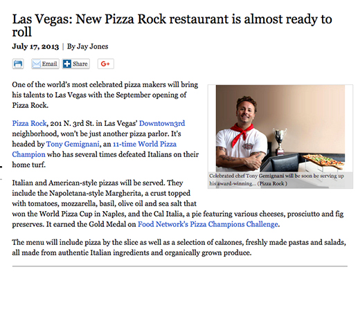 Las Vegas: New Pizza Rock restaurant is almost ready to roll