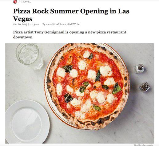 Pizza Rock To Open In Downtown Las Vegas