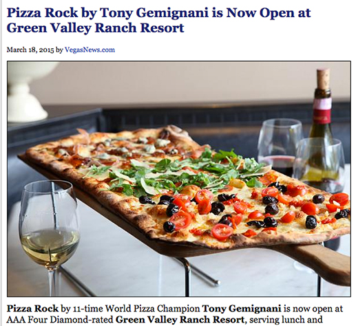 Pizza Rock by Tony Gemignani is Now Open at Green Valley Ranch