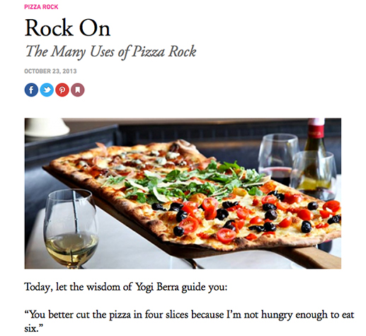 Rock On the Many Uses of Pizza Rock
