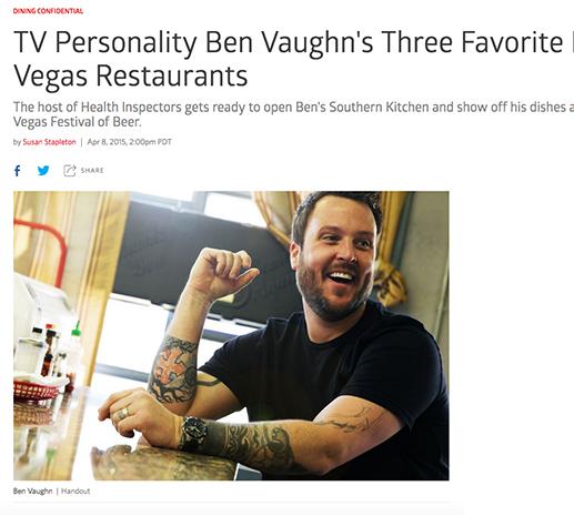 TV Personality Ben Vaughn's Three Favorite Las Vegas Restaurants