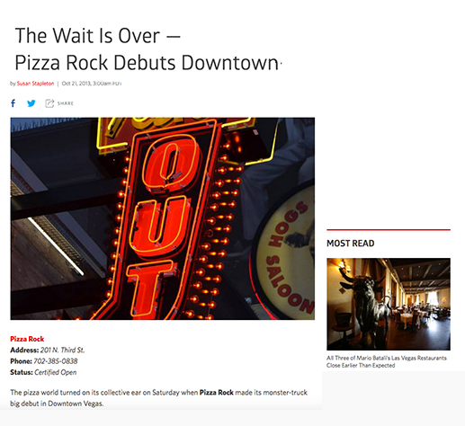 The Wait Is Over - Pizza Rock Debuts Downtown
