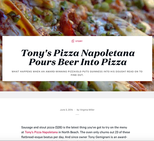Tony's Pizza Napoletana Pours Beer Into Pizza