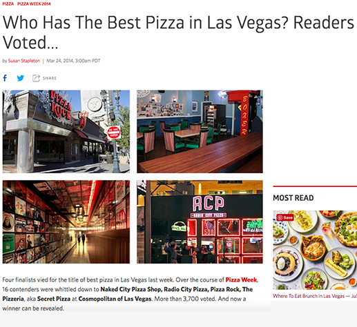 Who Has The Best Pizza in Las Vegas? Readers Voted...