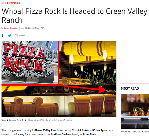 Whoa! Pizza Rock Is Headed to Green Valley Ranch