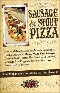 Sausage Stout Pizza