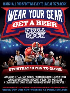 Watch All Pro Sports at Pizza Rock