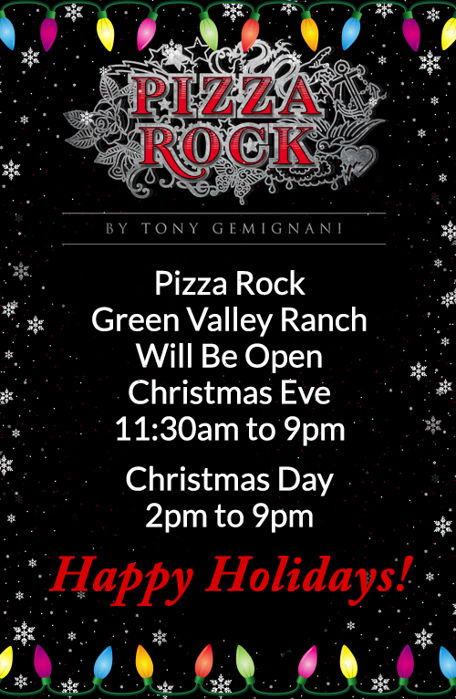 Open Christmas Eve 11:30 AM to 9:00 PM. Open Christmas Dat 2:00 PM to 9:00 PM.